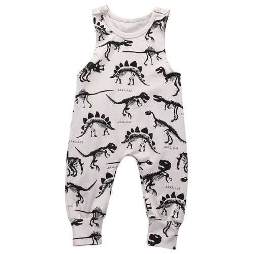 Jumpsuit - Adorable Dinosaur Sleeveless Jumpsuit For Baby