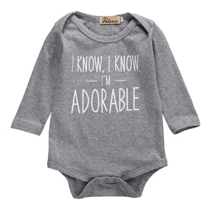 Onesie - I Know I'm Adorable Baby Onesie
