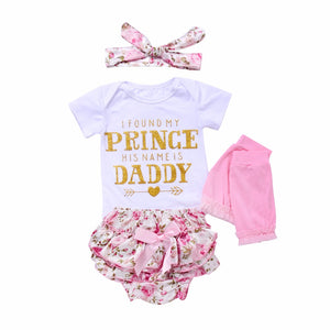 I Found My Prince - Baby girl 4Pcs set