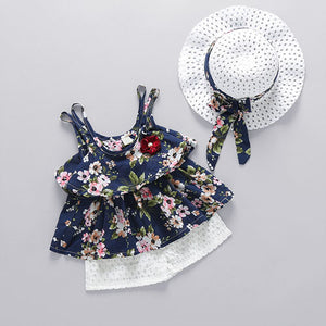 Beautiful Floral Dress and Hat