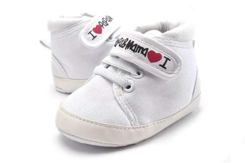I Love Mama & Papa Newborn Shoes