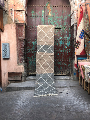 Walter Beni Ourain Vintage Moroccan Rug Runner