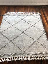 Moroccan Kilim in Pale Grey