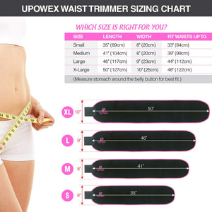 UPOWEX Waist Trainer for Women & Men – Premium Waist Trimmer – Include Carry Bag – 100% Life Time Guarantee