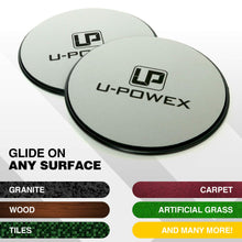 Load image into Gallery viewer, UPOWEX Exercise Sliders – Dual Sided Core Sliders – Work Smoothly on Any Surface. Full Body Workout, Compact for Travel or Home – 100% Life Time Guarantee