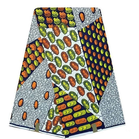 Real Wax 6 Yards ,African Wax Print Fabric By The Yard Ankara