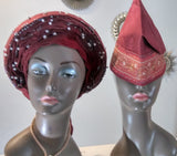 African Satin Lined Bonnet, African Hat For Women, African Printed Fabric Hat