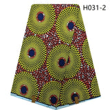 African Cotton Wax Fabric Supreme Quality Fabric African Real Wax Print 6 yards for DIY