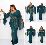 African Dresses For Women Robe Africaine Kaftan African Clothing Dashiki Boubou Cloth Long Maxi Dress Africa Clothing