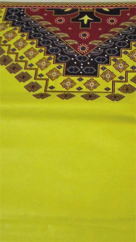 Yellow Cotton African Fabric By Yard, 100% Cotton High-quality African Fabric, Java African Wax Print Fabrics, Ankara Print Fabric