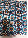 African Java Print, 100% Cotton, 6 yards