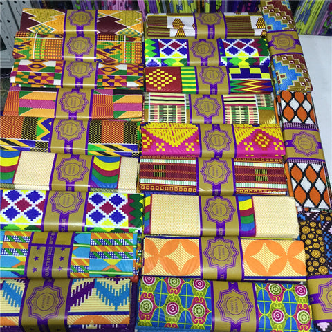 2+2 yards Chitenge Ankara Print Fabric Polyester Ghana Kente Wax African Kitenge Print Wax Fabric For DIY Dress Project
