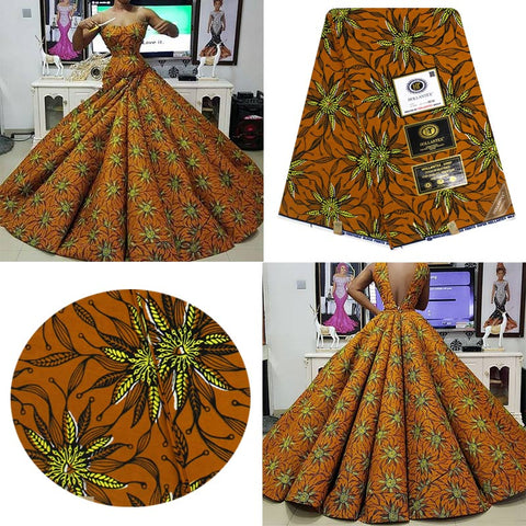 Veritable HOLLANTEX Wax Guaranteed Real  Wax 6yard/lot High Quality African Fabric Print For Sewing Dress DIY