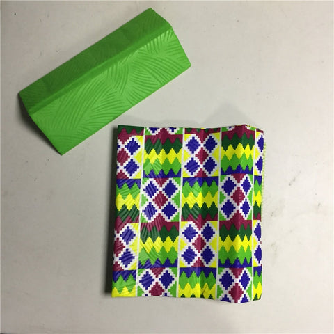 2019 New Styke  ankara kente wax fabric 4yards wax Fashion african Kente wax prints fabric wax  polyester wax fabric