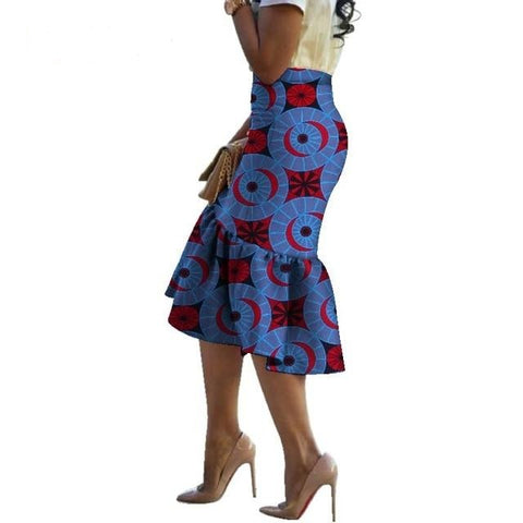 Summer African Print Skirts for Women 100% Cotton Traditional African Style Clothing