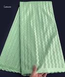Mint Green Polish Lace Cotton Fabric