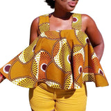 Summer sexy fashion style African women printing plus size t-shirt S-XXL