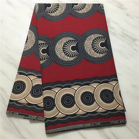 100% Polyester Fabric 6 Yards African Ankara Fabric Textile  African Wax Prints Fabric