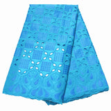 New african lace fabric with embroidery high quality swiss voile Lace for women dress 5yards