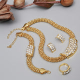 Exquisite Dubai gold Jewelry Set amazing price Luxury Nigerian Woman Wedding Fashion African Beads Jewelry Set Costume Design