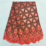 5 yard Swiss lace fabric 2020 latest Dry lace embroidery African 100% cotton fabrics Swiss voile lace popular Dubai style HL0228