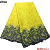 Royal blue African Cotton Swiss Voile Lace - Switzerland High quality Nigerian Voile Lace Fabric SW-340