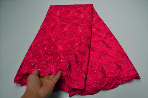 High Quality Nigerian Swiss Voile Net Lace African Tulle Mesh Lace Fabric Red French cord lace for party wedding   CLP-604