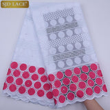 Newest Swiss Voile Lace In Switzerland High Quality African Dry Lace Fabric Punch Holes Cotton