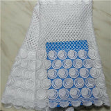 High Quality Stones Swiss Voile Laces in Switzerland African Swiss Voile Lace Wedding Dress   PLS60