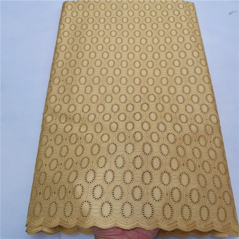High Quality Swiss Voile Lace  Cotton Polish Dry Men's fabric For Wedding  African Fabrics