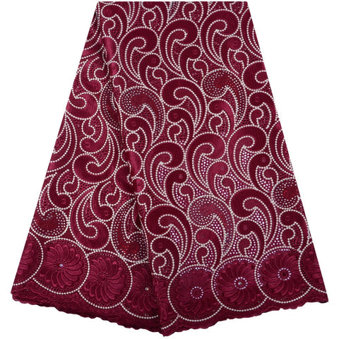 African Cotton Swiss Voile Lace Fabric Latest Wine Design African Swiss Voile Lace Fabric In Switzerland Nigerian Lace Fabrics