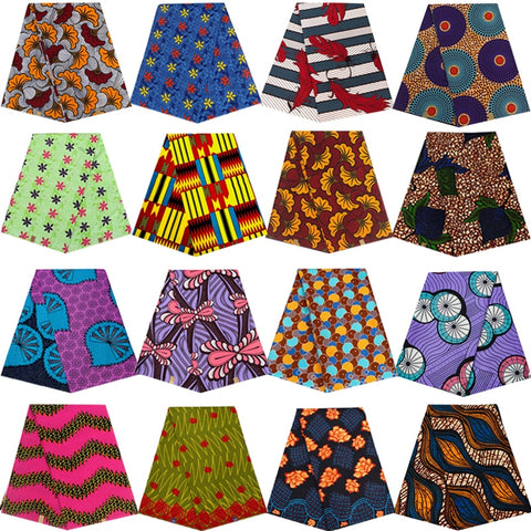 Ankara Africain printed real wax fabric sewing patchwork tissu cheap price polyester high quality dress garment craft accessory
