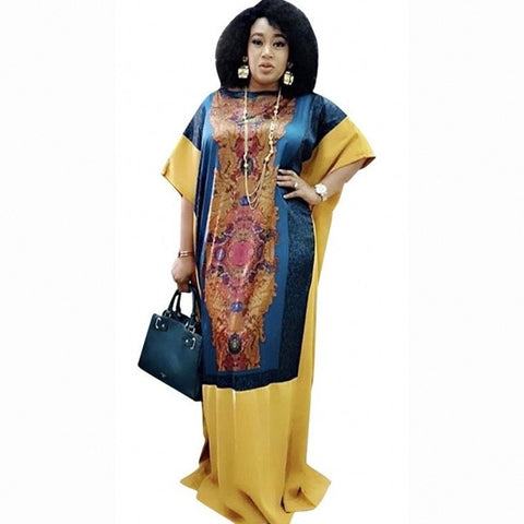 Long Maxi Dress 2020 African Dresses For Women Dashiki Summer Plus Size Dress Ladies Traditional African Clothing Fairy Dreess