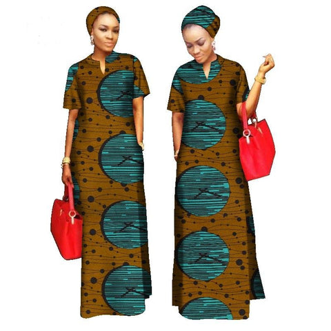 African Print Kaftan Boubou Long Dress