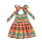 Summer African Dresses Kids Fashion Print Rompers Baby Girls Lace Up Dashiki Bazin Fashion Children Riche Ankara African Clothes