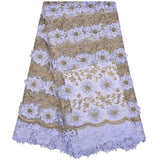 African Lace Fabric 2018 High Quality Lace Nigerian Lace Fabric With Stones Embroidery Tulle French Lace For Women Dress