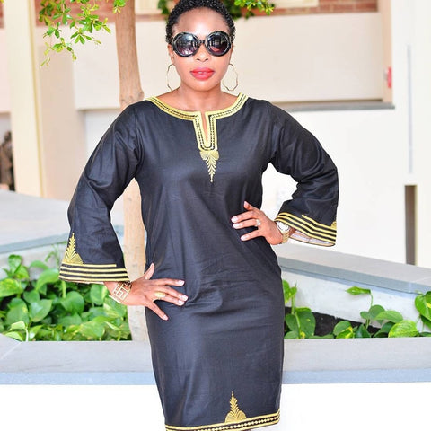 African Dresses For Women Dashiki Dresses Long Dress African Bazin Riche Embroidery Design Dress with Scarf