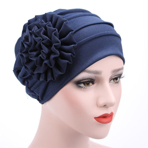 Women's Hats Spring Summer Floral Beanie Hat Muslim Stretch Turban Hat Cap Hair Loss Headwear Hijab Cap