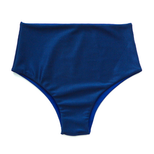 High Waisted Ribbed Bikini Bottoms - Small