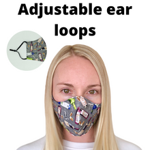 Adjustable Wine Cotton Face Mask