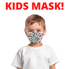 KIDS! Ages 5-10 Christmas Cotton Mask