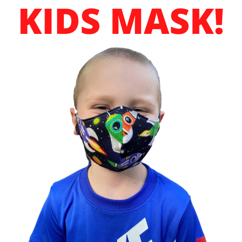 $5 Sale Mask! KIDS! Ages 5-10 Rocket Ship Cotton Mask