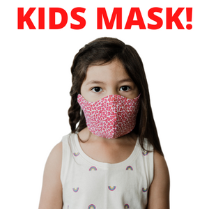$5 Sale Mask! KIDS! Ages 5-10 Pink Cheetah Cotton Mask