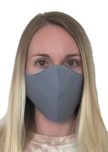 Gray Cotton Face Mask