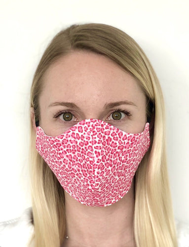 $5 Sale Mask! Pink Cheetah Cotton Face Mask