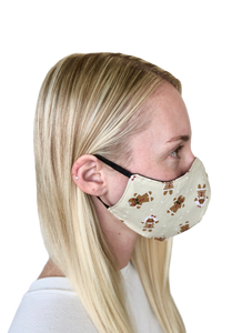 Gingerbread Man Cotton Face Mask