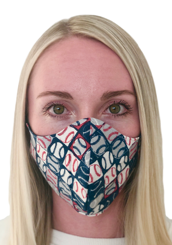Baseball Patriotic Cotton Face Mask