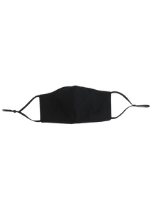 Adjustable Black Cotton Face Mask
