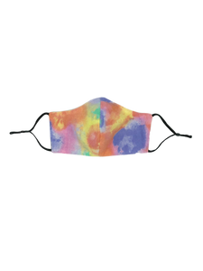 Pastel Tie Dye Cotton Face Mask
