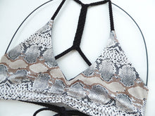 Description for  Reversible Snakeskin Bikini Top
